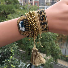 Delica MIYUKI Gold Star Bracelet Turkish Evil Eye Bracelet Jewelry Turkish Evil Eye Cuff Bileklik Pulseras 2019 Women(China)