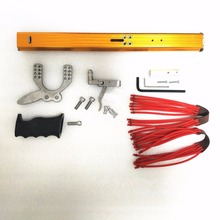 Рогатка телескопическая «сделай сам», игрушка для стрельбы на открытом воздухе, мощная катапульта с резиновым приводом и 12 отверстиями