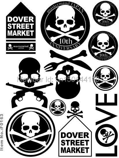 Quality Mastermind Japan Tokyo Skull Pink Round Vinyl Sticker PVC Decal Luggage