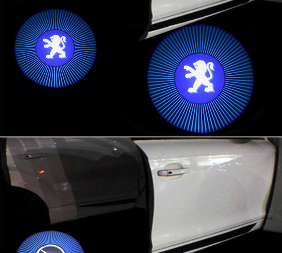 car door light welcome lamp auto decoration bulb car brand logo projector (3)