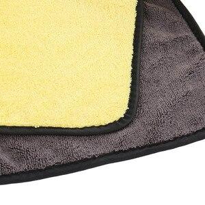 Image 4 - Toalha de secagem super absorvente do tamanho 92*56 cm do pano de secagem da limpeza do carro da toalha de microfibra da lavagem de carro