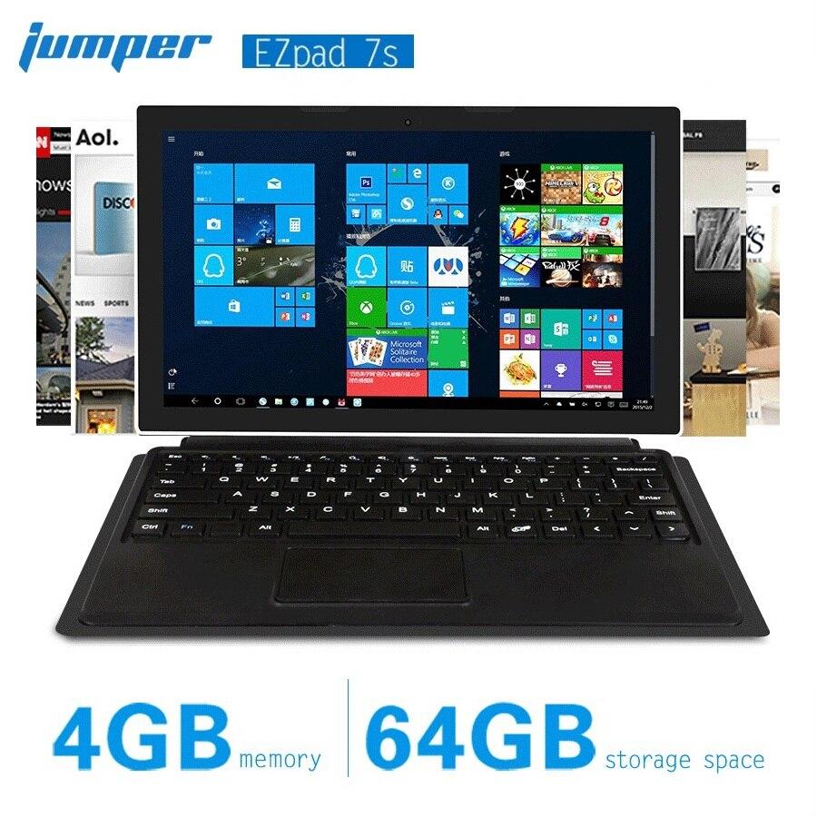 Jumper Ezpad 7s 2 in 1 Tablet PC 10.8 inch 1080P Intel Cherry Trail Z8350 Window 10 Quad Core 4GB RAM 64GB ROM 6600mAh Laptop