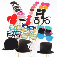 Photo Booth Props 44 Pcs Set Photo Booth For Wedding Birthday Party Wedding Photo Booth Prop