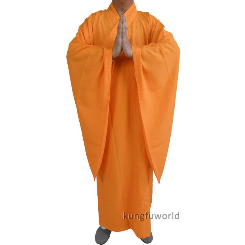 高品質少林寺僧侶ドレスローブ武道瞑想カンフースーツ武術制服