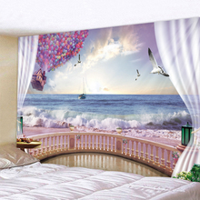 Sea View Outside The Window Printed Tapestry Cheap Hippie Wall Hanging Bohemian Wall Tapestries Mandala Wall Art Decor