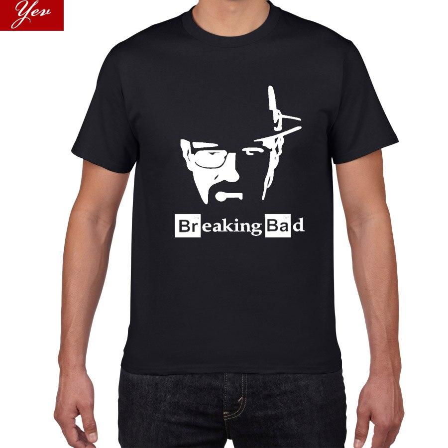 2019 New Breaking Bad Summer T Shirts Men Cotton Hip Hop Heisenberg Tops Tee  Street Wear Large Size Tshirt Men Casual T-shirt