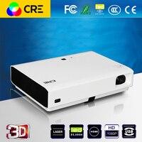 CRE X3001 Home theater Portable DLP 3D 3LED android 4.4 thông minh Chiếu ngắn ném Full HD điện ảnh proyector