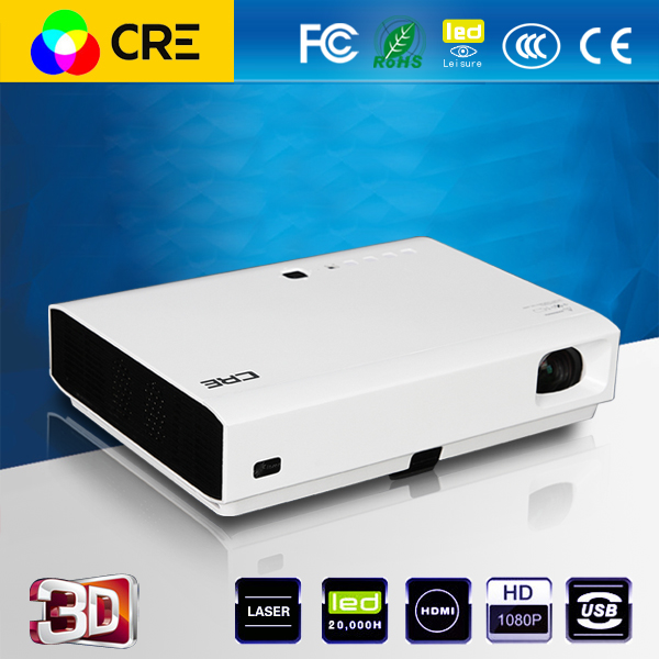CRE X3001 Home theater Portable DLP 3D 3LED android 4.4 smart Projector short throw Full HD cinema movie proyector wzatco short throw projector daylight hdmi home theater 1080p full hd 3d dlp projector proyector beamer for church hall hotel