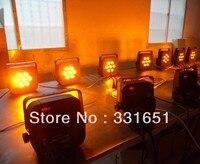 Heiße Neue LED Licht RGBAW DMX 7x15 Watt RGBAW 5IN1 All in one LED Flat Schlank Par Dosen Licht DMX 5/9 Kanäle-in Bühnen-Lichteffekt aus Licht & Beleuchtung bei