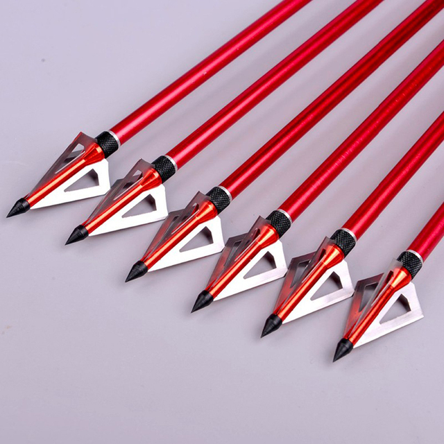 100 Grain Hunting Crossbow Arrow Broadhead with 3 Fixed Blades Used As Archery Bow And Arrow  3