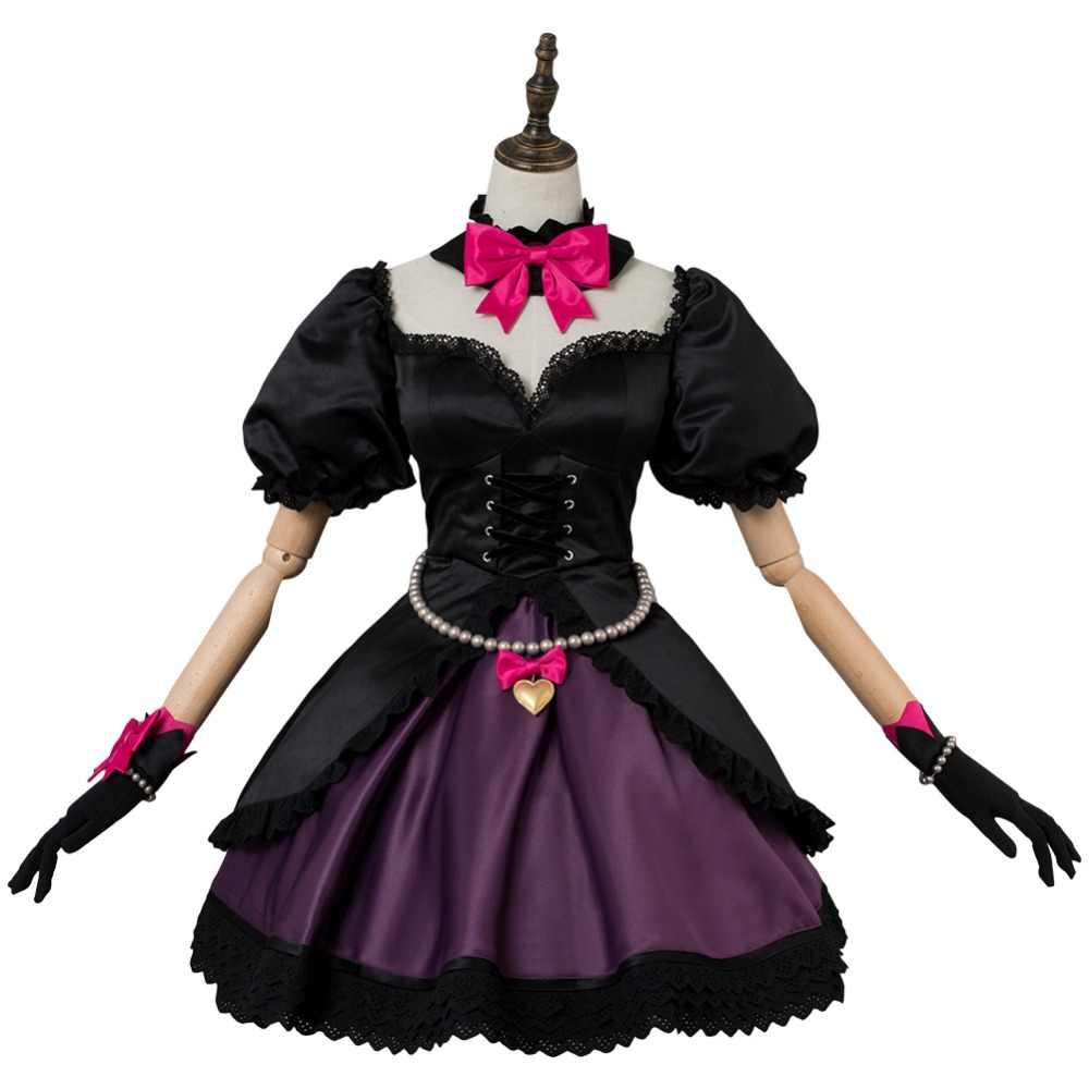 OW D. R e r e r e r e r e r e r e r e r e r e DVA Hana şarkı Cosplay kostüm siyah kedi memuru elbise