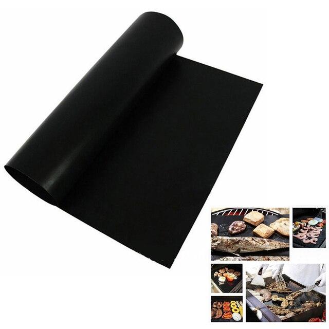2 pz/lotto BARBECUE Riutilizzabile Mat Teflon Fibra Antiaderente BARBECUE Grill