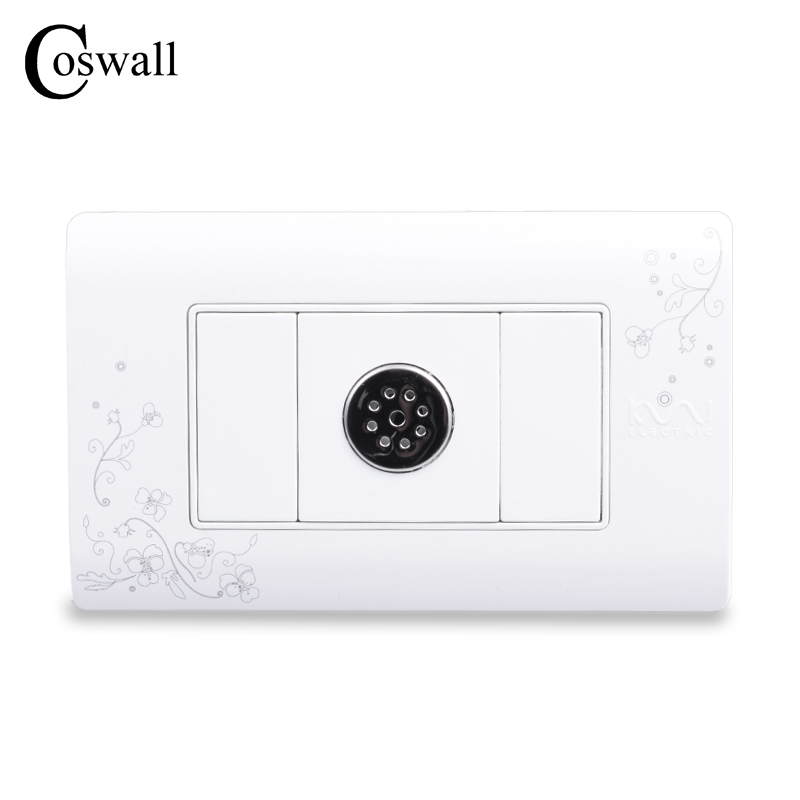 COSWALL Simple Style Sound and Light Control Time Delay Switch Timer Switch Ivory White 114mm*70mm AC 110~250V dc 12v led display digital delay timer control switch module plc automation new