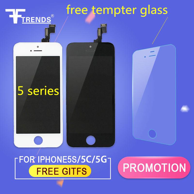 Prix pour Fftrends 10 pcs/lot oem aaa qualité remplacement lcd pour iphone 5 5S 5c LCD Écran Tactile digitizer Assemblée Noir/Blanc Livraison DHL