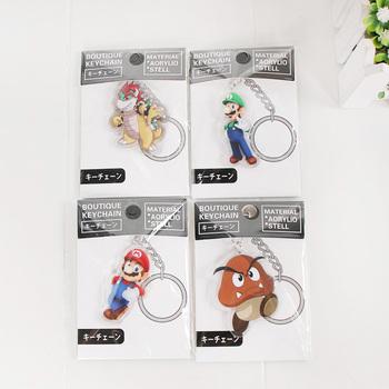 Super Mario brelok brelok Odyssey Mario Maker Bros Bowser Luigi Koopa Yoshi rysunek zabawki wisiorek klucz pierścień zaopatrzenie firm tanie i dobre opinie Model Unisex Film i telewizja Wyroby gotowe Montaż Japonia Żołnierz gotowy produkt Jeden rozmiar 12-15 lat 8 lat Dorośli