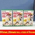 Original fuji fujifilm instax mini película 8 60 unids borde blanco papel fotográfico para cámara instantánea polaroid 7 s 8 90 25 compartir sp-1