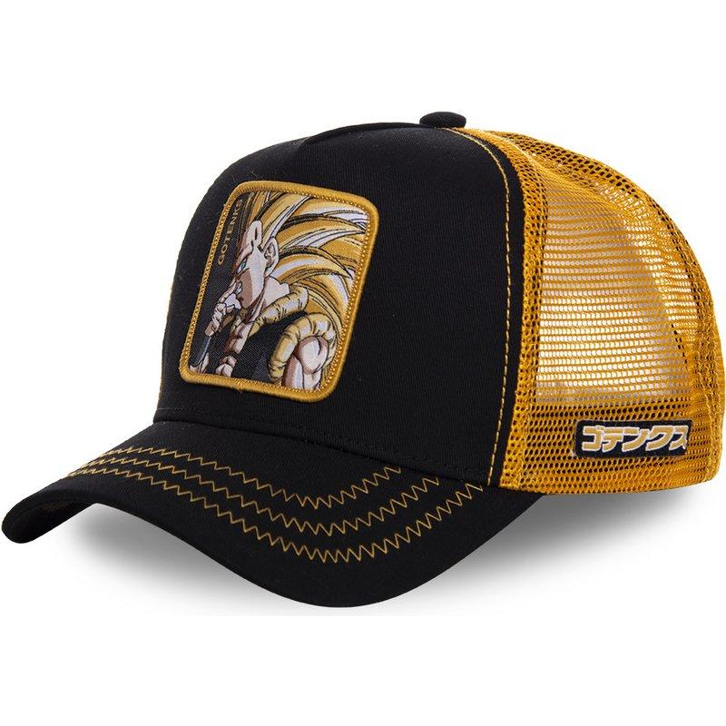 New Dragon Ball Z Mesh Hat Goku Baseball Cap High Quality Black & Yellow Curved Brim Snapback Cap Gorras Casquette hats|Men