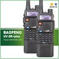 2 PCS Original Tri-Potência 8 W/4 W/1 W Bateria de Longa Duração 3800 MAH Baofeng UV-5R além disso Dupla Afixação VHF UHF Transceptor FM Fone de Ouvido Sem