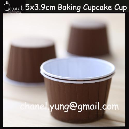 50pcs Cute Brown <font><b>Paper</b></font> Cupcake <font><b>Cups</b></font> Muffin <font><b>Souffle</b></font> Case Liners Greaseproof <font><b>Paper</b></font> Party Decoration Free Shhipping Now