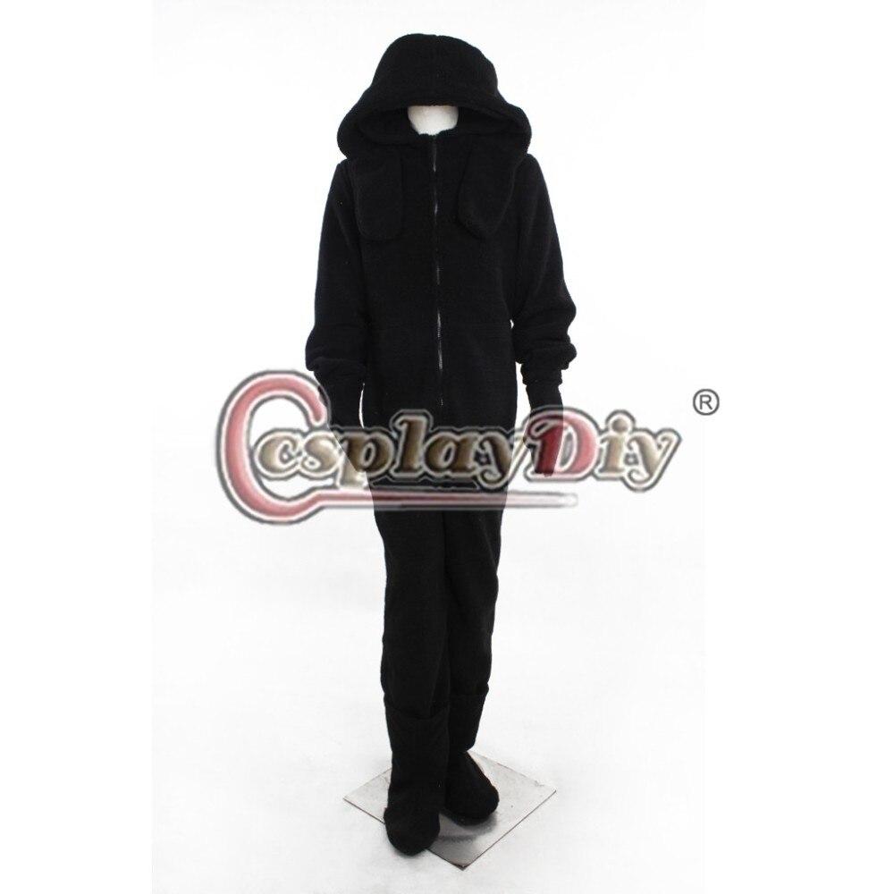 Cosplaydiy Wilfred Dog Black Costume Adult Halloween Cosplay Costume Custom Made D1023