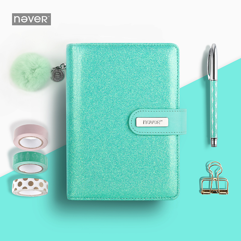 NEVER Cactus Series Leather Cover Spiral Notebook A6 Personal Planner Diary Organizer Agenda Korean Stationery School Supplies never sweet pink diary a6 spiral notebook agenda 2018 personal weekly planner chancellory school supplies korean gift stationery