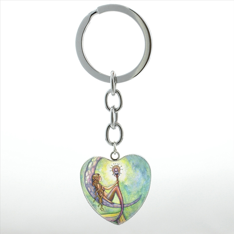 Novelty Charms Mermaid girl dolphin octopus angel fish keychain fashion ocean  art women heart pendant key chain ring gifts HP275-in Key Chains from  Jewelry ... da95a369c