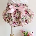Ropa interior del bebé caliente lindo estampado floral con volantes arco bragas de las muchachas de bebé pp pantalones niños pantalones cortos tamaño 0-24 M