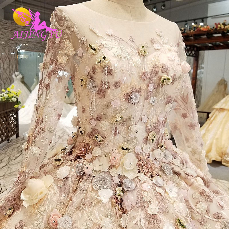 5eb44be04b6 AIJINGYU свадебные платья в Турции уникальные Доступные Роскошные Тюль с  прозрачной спинкой плюс размеры свадебное платье низкая