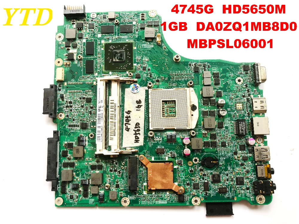 Original for ACER 4745 4745G laptop motherboard  4745G HD5650M 1GB DA0ZQ1MB8D0 MBPSL06001 tested good free shipping connectors