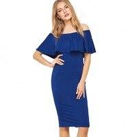Women Casual Plus Size S 3XL Dress Summer Fashion Off Shoulder Bodycon Dresses Womens Club Party