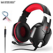 KOTION EACH G1200 Gaming Headset 3.5mm Game Headphone Earphone Headband With Mic Stereo Bass For PS4 PC Computer Laptop Phones