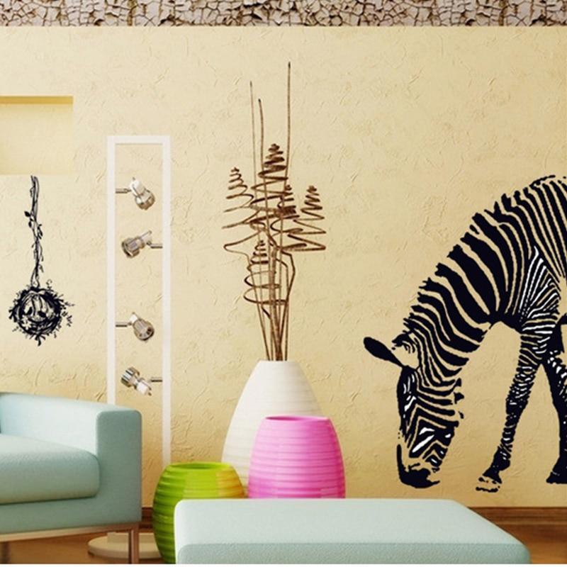 Zebra Muursticker Adesivo De Parede DIY Wall Stickers Abstract Art ...