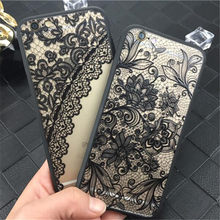 Luxury Sexy Lace Floral Henna Mandala Palace Flowers Phone Case For iphone 5s Cover For iphone 5s 5 SE 6 6s 7(China)