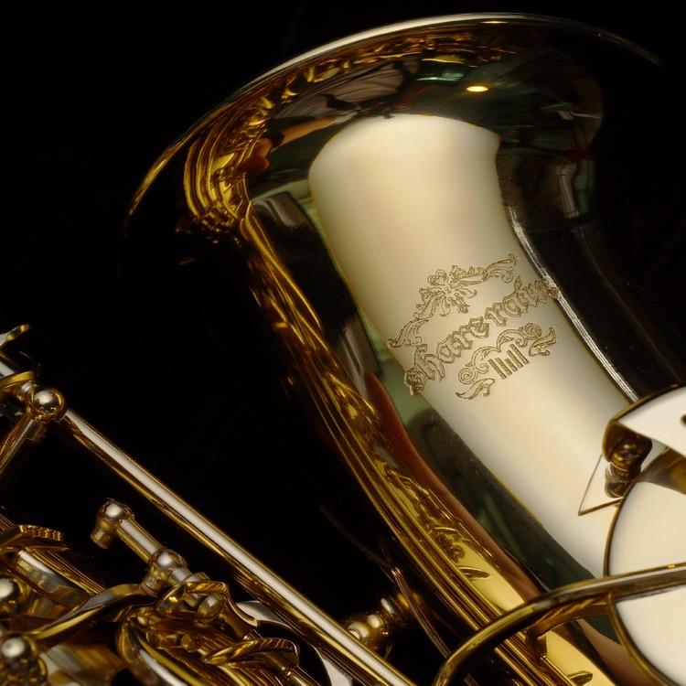 Compartir lluvia sax Eb oro laca Alto saxofón Musical profesional