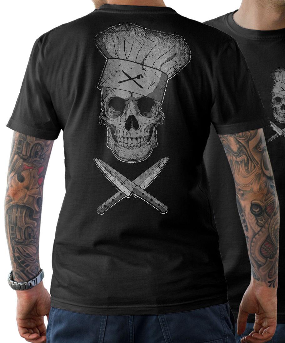 T-Shirt Chef Skull Cook Skull Chef Stranger Things Design T Shirt 2019 New Short Sleeves Cotton Fashion T-Shirt