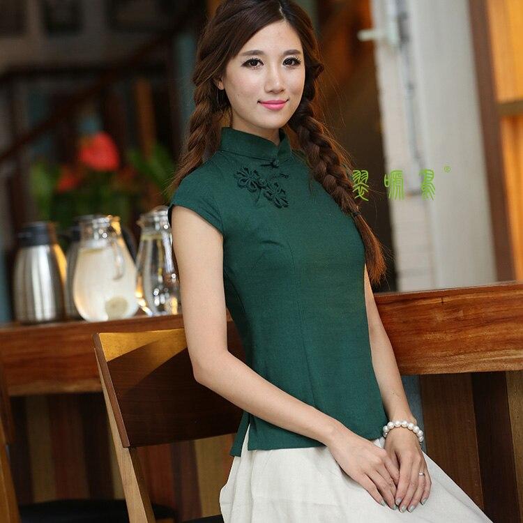 85139aa56 Shanghai Story Short Sleeve national trend Qipao Shirt Chinese ...