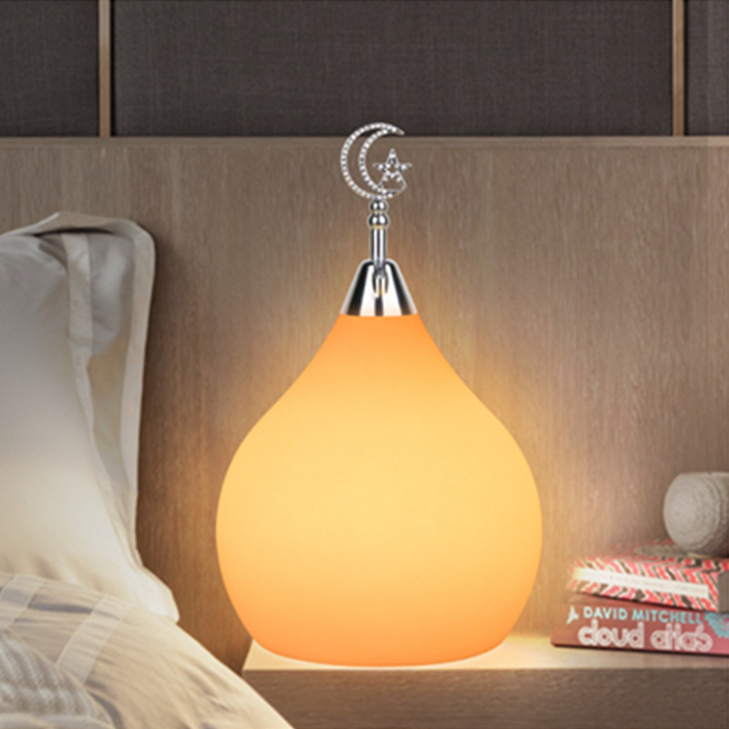 цена Water drops Home atmosphere lamp night light smart colorful memory remote control RGB + W bedroom living room decoration gifts