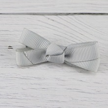 20 Pcs  Solid Kids Girls Ribbon Hair Bow Clips with Hairpins Boutique Hairclips Accessories Handmade Princess Headwea