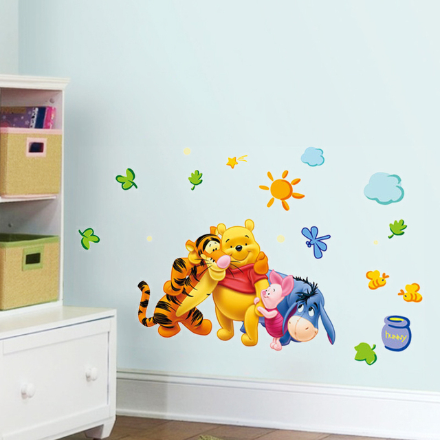 Aliexpress.com : Buy Winnie the pooh Animals Bear tiger friends wall ...