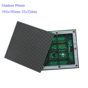Image 5 - P6 Outdoor module 192*192mm SMD3535 32*32dots 1/8S Waterproof led screen panel for advertising LED display screen
