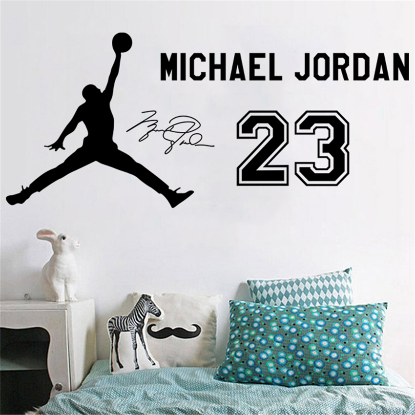 NBA Basketball Star Jordan No. 23 Jersey Wall Stickers Student Dormitory Bedroom Bed Head Sofa Background Decorative Sticker D23 image