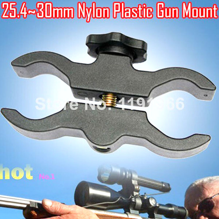Free Shipping 1 PCS Plastic Hunting gun mount Clamps, 25mm ~ 30mm Tactical Flashlight and laser Universal flashlight Gun mount