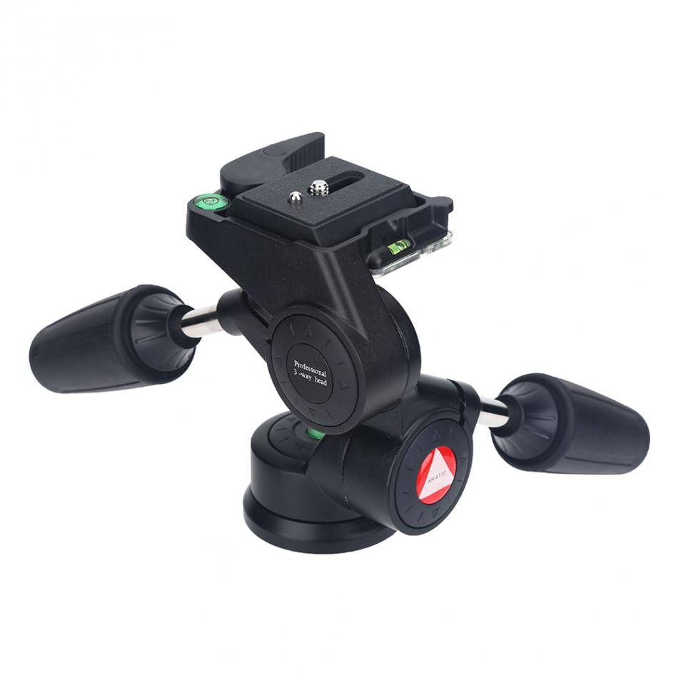 KINGJOY 360 Degree Rotating Panoramic Tripod Heads Shooting Pan and Tilt Head Quick Release Plate For DSLR Camera