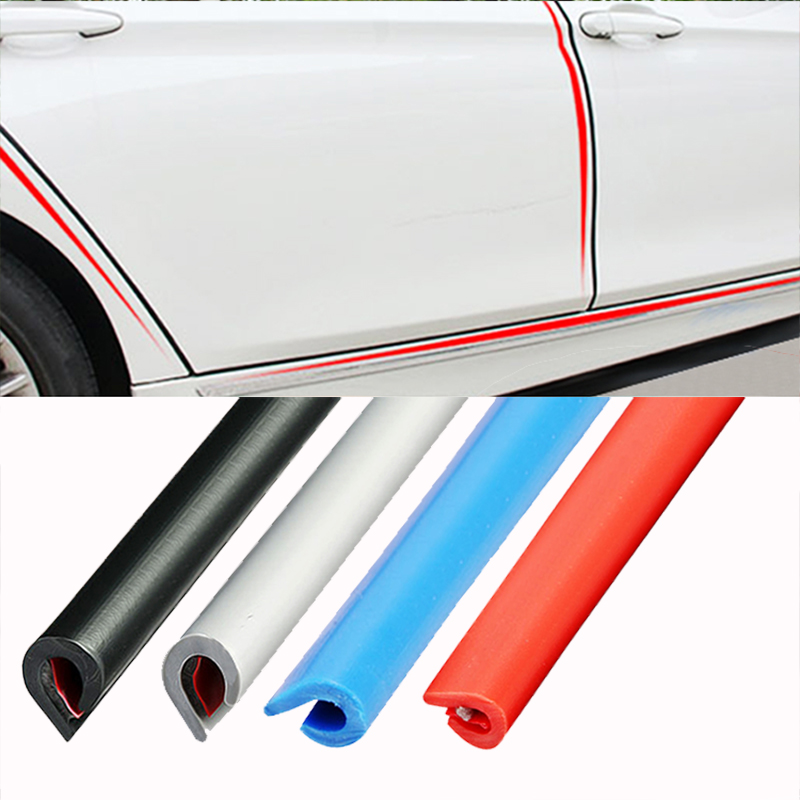 Image 2 - Universal Car Door Edge Rubber Scratch Protector 5M 10M Moulding Strip Protection Strips Sealing Anti rub DIY Car styling-in Styling Mouldings from Automobiles & Motorcycles