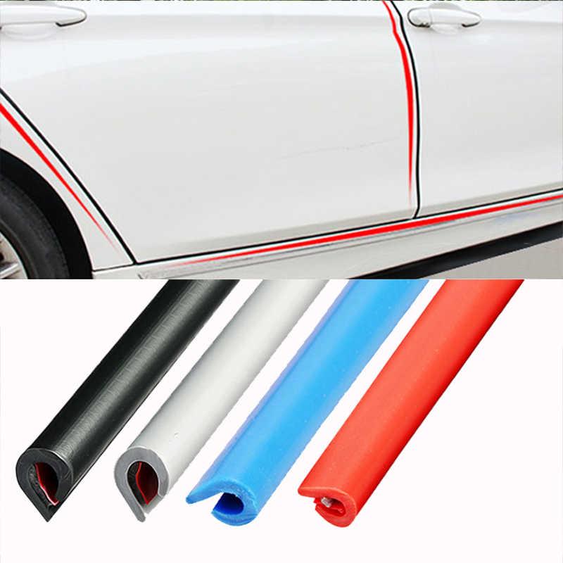 Universal Mobil Pintu Edge Karet Awal Protector 5M 10M Moulding Strip Perlindungan Strip Penyegelan Anti Gosok Diy mobil Styling