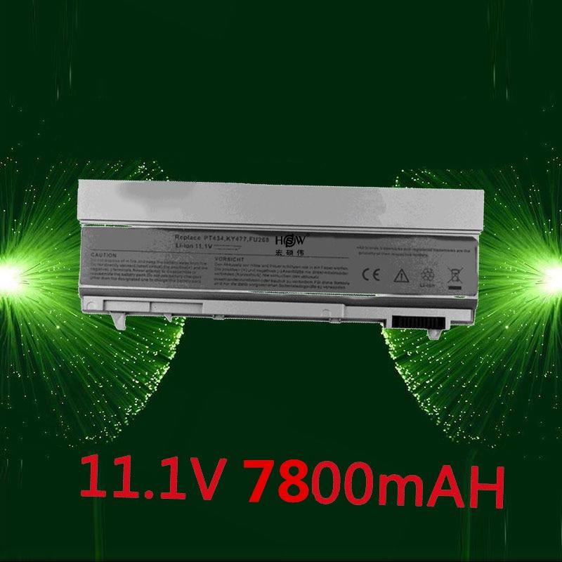HSW 7800mAh Laptop Battery For Dell Latitude E6400 E6410 E6500 E6510 Precision M2400 M4400 M4500 M6400 M6500 1M215 312-0215 english backlit keyboard for dell latitude e6400 e6410 e5500 e5510 e6500 e6510 precision m2400 m4400 laptop us