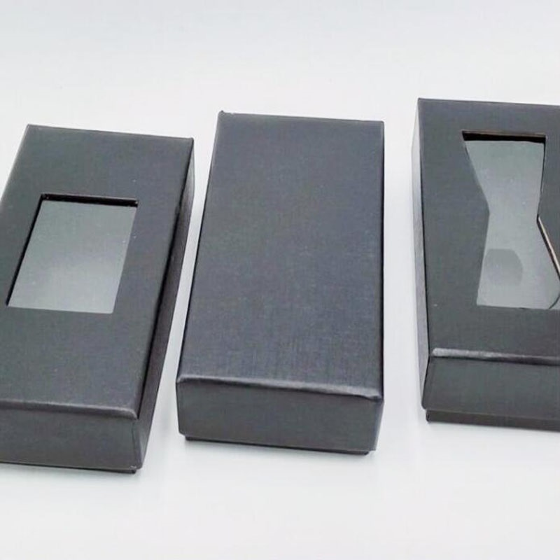 클래식 블랙 넥타이 상자 나비 넥타이 넥타이 넥타이 선물 상자 남자 넥타이 포장 디스플레이 스토리지 케이스 4 스타일 창 상단 100 pcs za6082-에서선물가방&포장용품부터 홈 & 가든 의  그룹 1