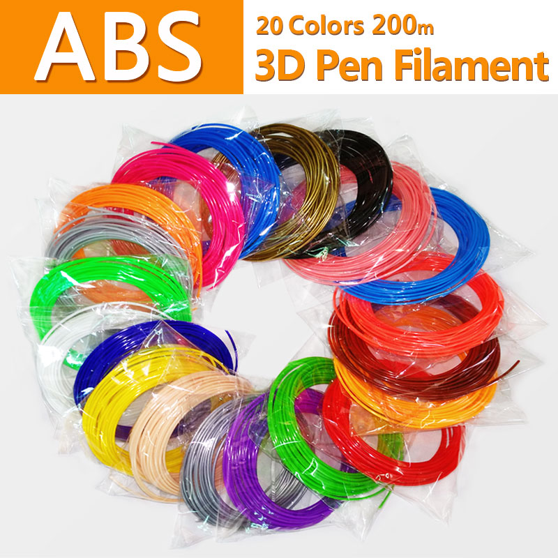 No pollution abs 1.75mm 20 colors 3d pen filament abs filament abs plastic pla plastic 3d printing filament 3d printer abs wire