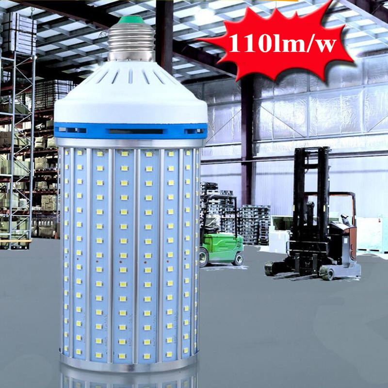 Aluminum alloy 110lm/w e27 LED bulb light lamp e40 AC220v 230v 240v 50/60hz e27 e40 20w 30w 40w 50w 60w LED corn light bulb e27 25w ac220v 240v 98pcs 5730smd warm white led corn light