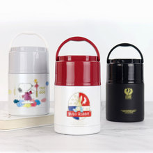 Free Custom New HOT SALE Outdoor Portable 304 Stainless Steel Insulated Lunch Box Vacuum Cup Pot 800ML Large Fast food
